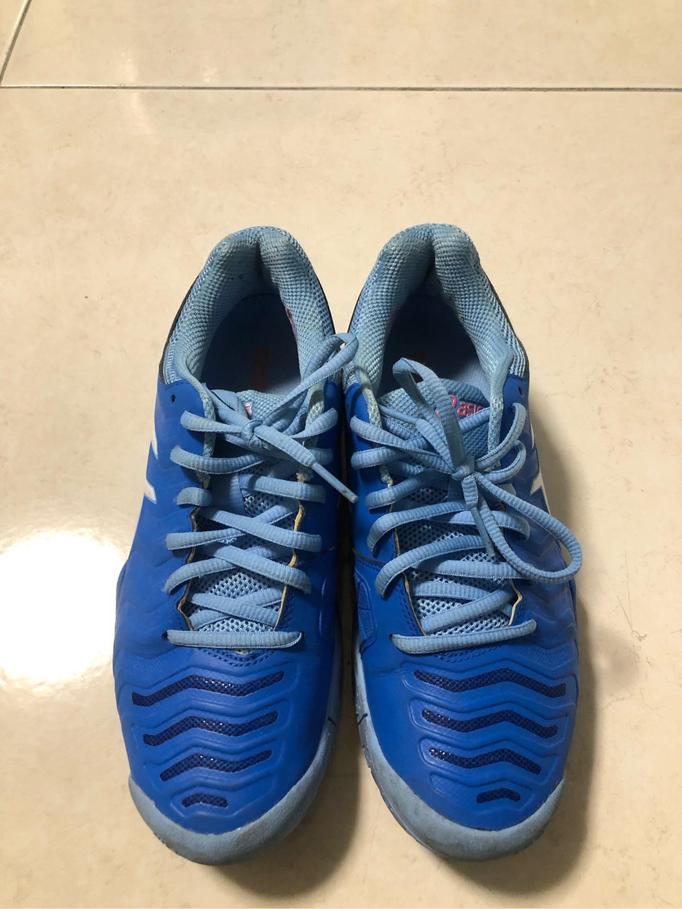 Asics GEL-Challenger 11 [E753Y-400] 女鞋網球緩衝穩定包覆輕量亞瑟士藍白