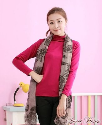 ((Sweet House))~~㊣女生(立領)鵝の絨保暖衣天鵝絨內搭衣發熱衣衛生衣內刷毛超保暖~紫紅