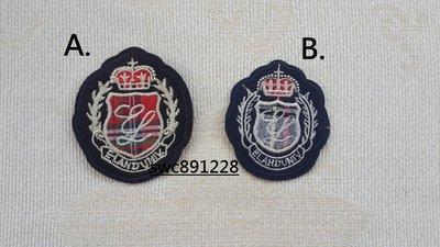 手縫英倫學院風布貼、胸章、衣服補丁、裝飾貼布、徽章--B670(A)