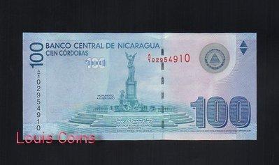 【Louis Coins】B123-NICARAGUA-2012尼加拉瓜紙幣100 Cordobas