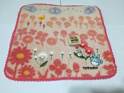 日本 龍貓桃紅雛菊 小毛巾