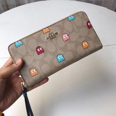 【小怡代購】 全新COACH 73394 美國正品代購新款小精靈 手機包 皮夾長夾 錢包超低直購