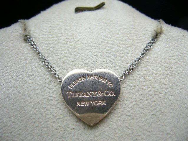 [吉宏精品交流中心]Tiffany&Co. 蒂芬妮 925銀 合金 玫瑰金色 愛心 項鍊