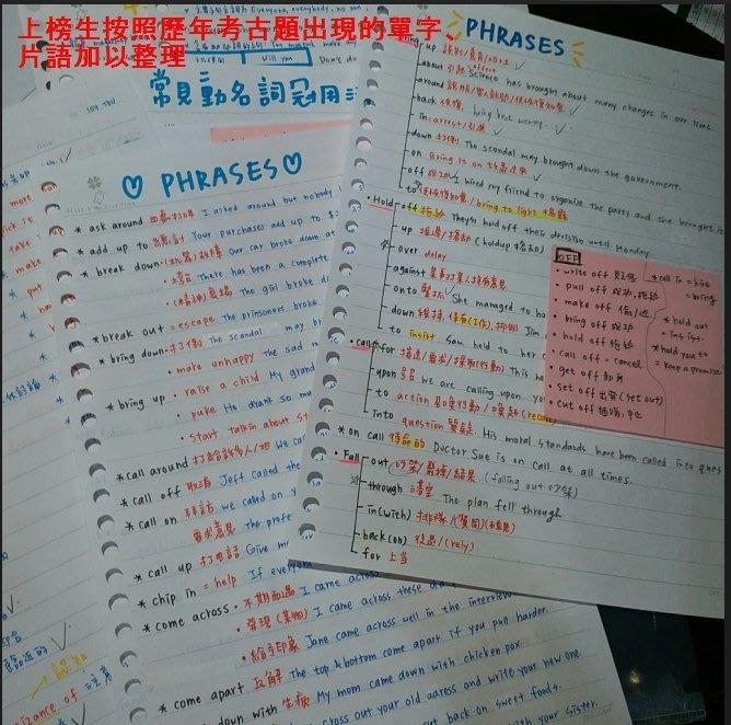 淡江大學 英語系 轉學考 正取生 上榜筆記 自讀 共同科目 筆記 國文+英文