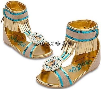 哈美族 美國 Disney 迪士尼 風中奇緣 Pocahontas 印地安公主鞋/涼鞋/民族風鞋 美規7/8至2/3