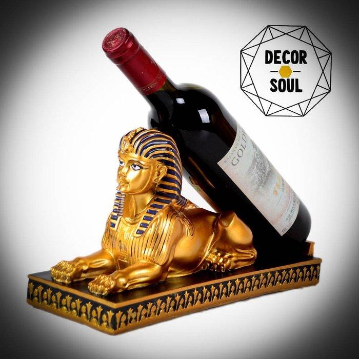 DS北歐家飾§ 金字塔人面獅身像 紅酒架 桌面擺飾擺件家飾 復古時尚奢華麗 裝飾質感 古埃及獅身人面像生日禮物風格個性