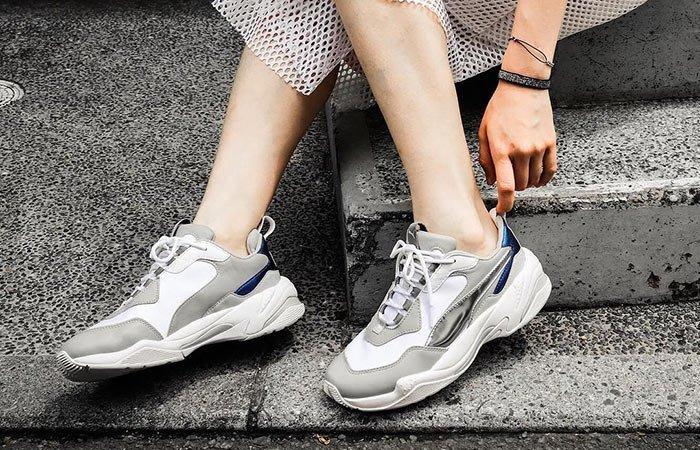 ☆AirRoom☆【現貨】PUMA W THUNDER ELECTRIC DAD 老爹鞋 白銀 女鞋 367998-02