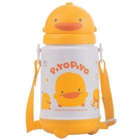 ☆╮花媽╭☆黃色小鴨 滑蓋造型保溫水壺 420CC GT-83353~