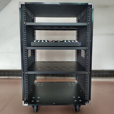 蘿莉正品音箱櫃12U/16U加厚透明門機箱8U機柜航空箱20U功放機箱子車載舞臺移功柜