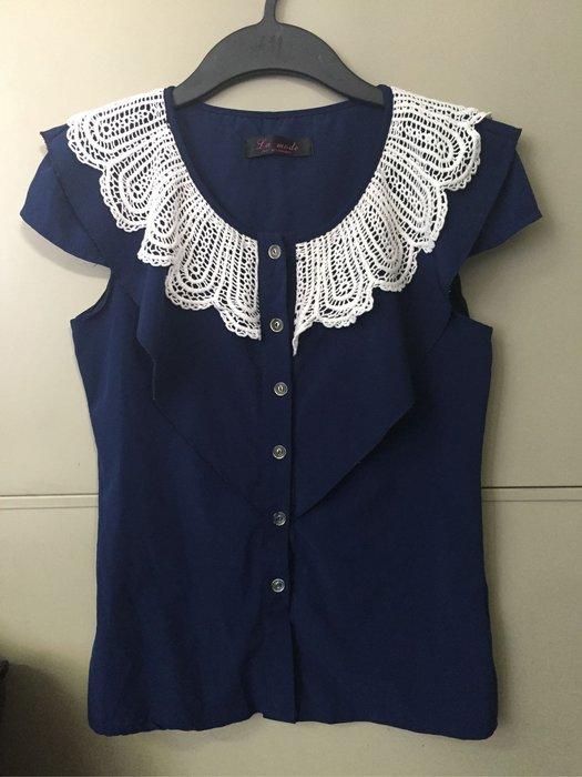 La mode 專櫃蕾絲領甜美系襯衫