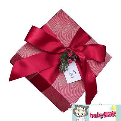 禮盒 歐式喜糖盒創意伴娘伴手禮晨袍禮盒閨蜜手提袋大禮盒寶寶宴空盒子【baby居家】
