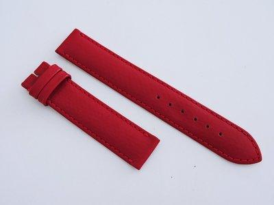 全新 18mm 義大利 暗紅 真皮牛皮荔枝紋錶帶 193mm  BREITLING百年靈卡地亞cartier替代