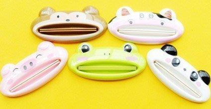 【批貨達人】多功能可愛動物造型擠牙膏器 洗面乳擠壓器