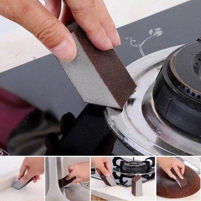 金剛砂海綿細縫清潔魔力擦 梯形設計 不鏽鋼 鐵製品去污除鏽-艾發現