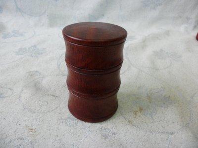 紫色小館38--------正清老品海南黃花梨木竹節罐