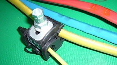 絕缘穿刺線夾1-35電纜分支器免破線端子分流器支线1.5-10平方