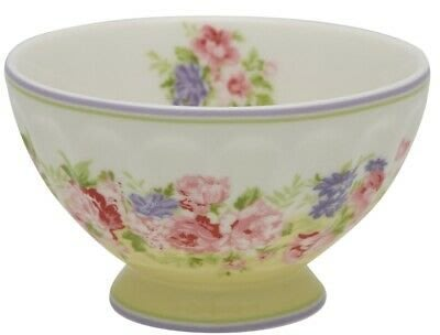 GreenGate French Bowl Rose Pale Yellow - Medium (法式拿鐵碗)