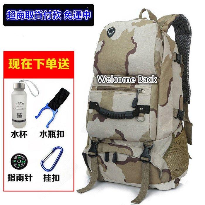 新款休閒旅行底部可開式背包