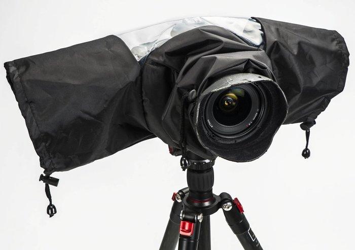 呈現攝影-相機雨衣 舒適版 單眼相機雨衣 防風 防雨 防沙塵  廣角至望遠 小白 小黑六
