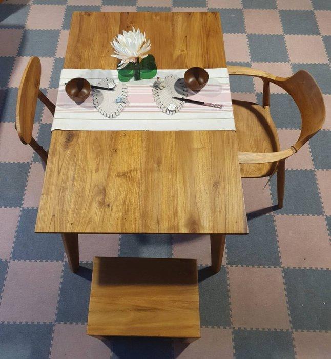 幸福家傢俱 120公分的簡約多功能桌 ( TB120 )全柚木餐桌,工作桌,書桌,全柚木,柚木家俱