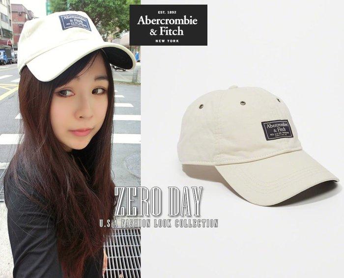 【零時差美國】A&F真品Abercrombie&Fitch Brushed Twill Cap經典logo棒球帽老帽米白