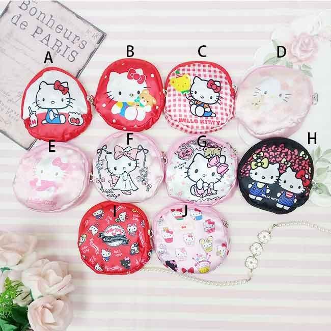 Hello Kitty 緞面收納環保提袋 收納 包包 提袋 正版授權
