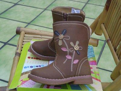 ☆☆小天使童裝童鞋☆☆法國品牌法國富貴小公主兒童童靴雪地靴25號-鞋内15CM