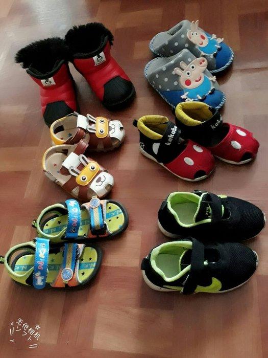 幼童可愛兔兔軟底米老鼠拖鞋紅中筒短靴步鞋休閒鞋運動鞋寶寶涼鞋室內保暖兒童佩佩猪卡通喬治拖鞋