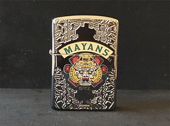 ONE*$1~美系*ZIPPO*Mayans M.C加厚版『瑪雅人MC 』鏡面蝕刻*彩印*編號:49032