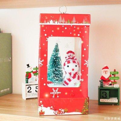 好物多商城 雪人發光音樂盒禮物送女友圣誕節裝飾辦公室商場酒店ktv布置用品