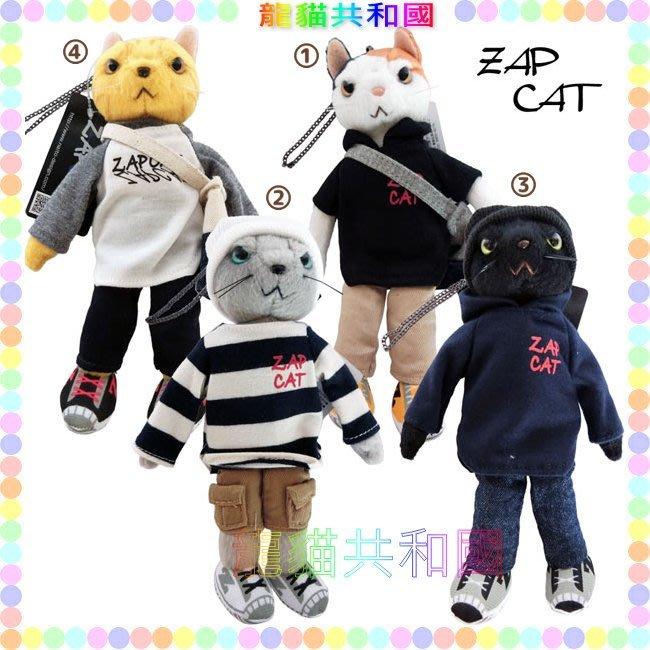 ※龍貓共和國※日本正版《仿真擬真小貓咪 喵星人 ZAP CAT 搖滾帥氣人形 手機吊飾_可改鑰匙圈 絨毛玩偶娃娃》禮物