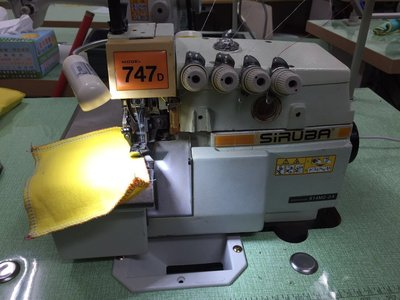 二手 台灣 高林 銀箭 SIRUBA 747 拷克 車 包縫 工業用 縫紉機 優惠價格