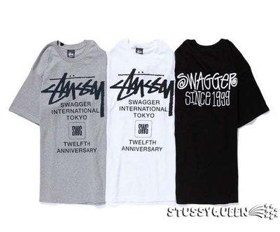 【超搶手】全新正品 聯名日本限定Stussy x Swagger 12th International Tee 白色L