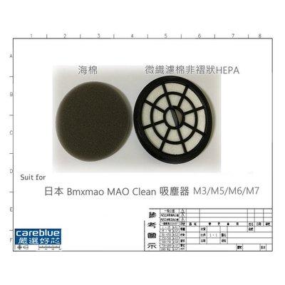 MIF 濾網 + 濾棉 for 日本 Bmxmao MAO Clean 吸塵器 M3/M5/M6/M7