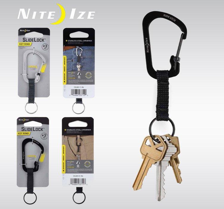【angel 精品館 】 NITE IZE 3號帶鎖D扣織帶CSLW3系列 / 單色單個販售