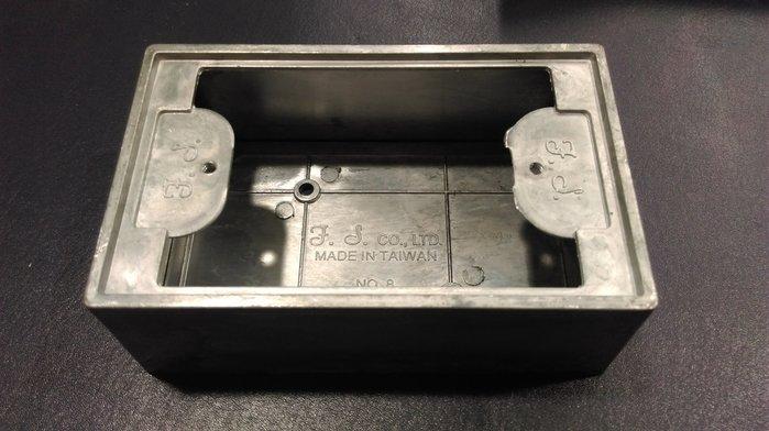 DIY水電材料 一聯鋁明盒/鋁製BOX/開關插座用/接線盒可搭配白鐵蓋板 工業風 復古風 LOFT