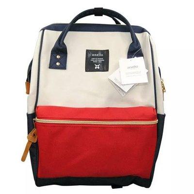 ?正品? 日本 anello (附原廠證書+購買發票) 多功能 後背包 背包_紅白藍(大號) 台中市