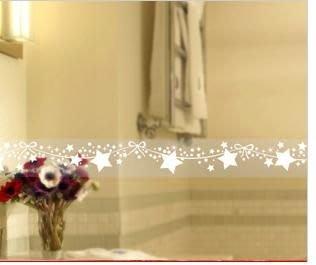 小妮子的家@韓國進口星星蕾絲玻璃.鏡面.瓷磚防曬防水透明腰線.玻璃貼膜LB-04