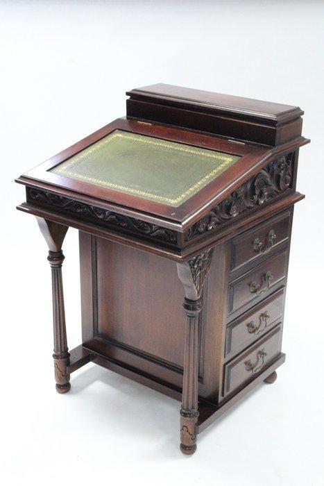 【家與收藏】特價稀有珍藏歐洲百年古董法國19世紀古典優雅珍貴桃花心木手工雕刻寫字桌/櫃