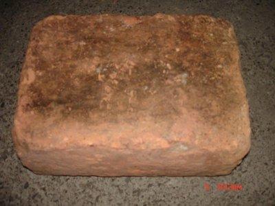 典藏一塊80-90年前台灣古早的老紅磚-少見