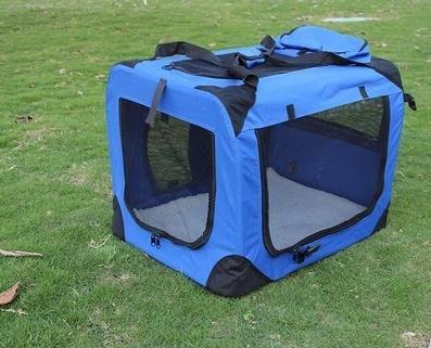 【寵物蚊帳篷-可折疊可拆洗-鋼管支架+防水牛津布-L-70*52*52cm】大型可拆洗狗窩 折疊後僅8cm厚-79014