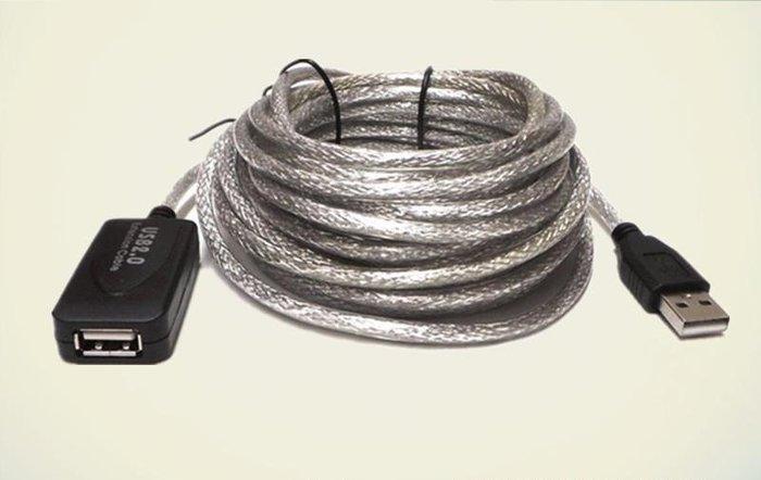 【3C生活家】USB 延長線 高速USB2.0帶訊號放大器 保證訊號穩定 透明黑色 A公A母 抗干擾 延長放大器 5米
