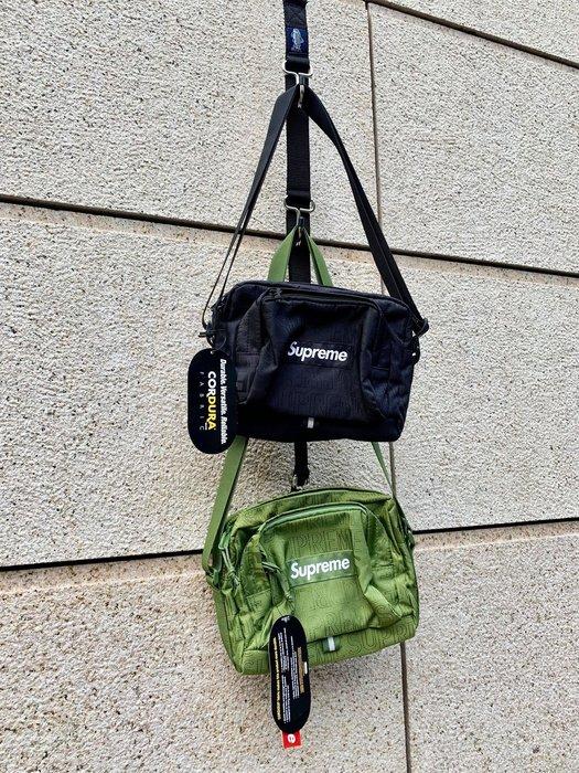【Basa Sneaker】Supreme 19SS 46th Shoulder Bag 黑色 小包 斜背 跨包 肩背包