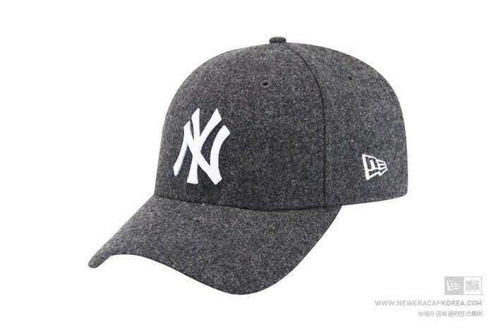 【Easy GO 韓國潮牌代購】NEW ERA x MLB NY 2018秋冬新款刷毛棒球帽/鴨舌帽(灰色)