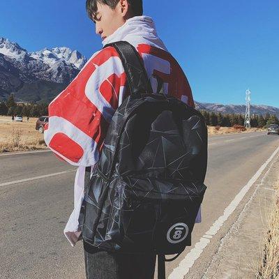 【洛本】書包女韓版原宿ulzzang高中學生雙肩包男時尚潮流簡約百搭背包潮B10