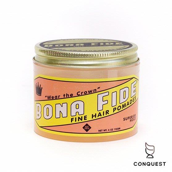 【 CONQUEST 】Bona Fide Superior Hold Pomade 水洗式髮油 線條柔順自然 清新檸檬