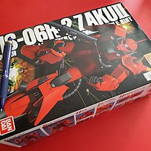 絕版Bandai高達模型 MS-06R-2 裝甲紅彗星 MG版 1:100 Gundam機動戰士