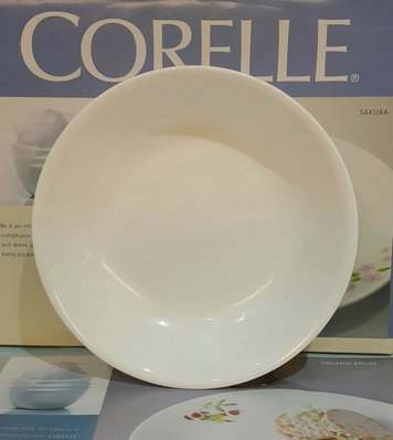 ~全新~康寧餐具~CORELLE康寧純白8吋/ 21cm湯盤~ 桃園市
