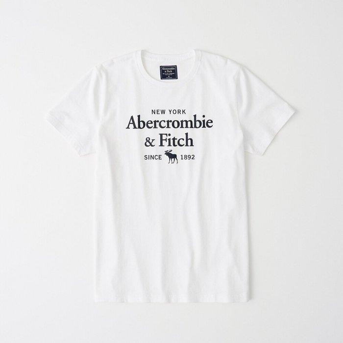 T【A&F男生館】☆【Abercrombie&Fitch麋鹿LOGO印圖短袖T恤】☆【AF008W5】(S-M-L)原價799 7/15到貨