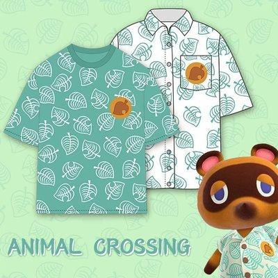 集合啦動物森友會動物之森遊戲周邊t恤短袖男女休閒半袖衫衣服動物之森  # &tian1233